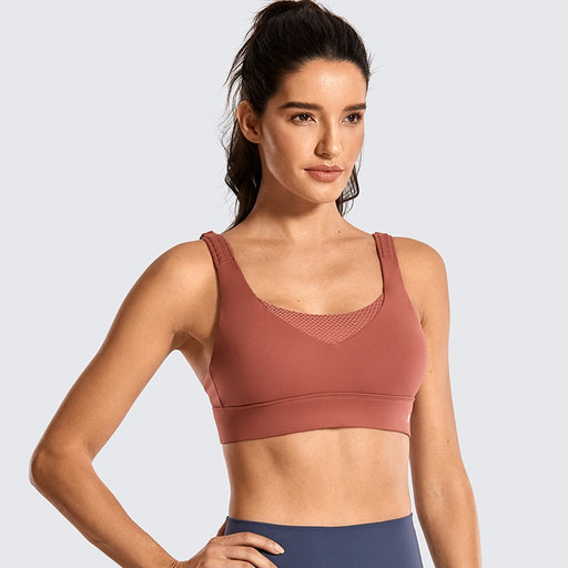 Women's High Impact Wirefree Padded Training Bra With Convertible Strap