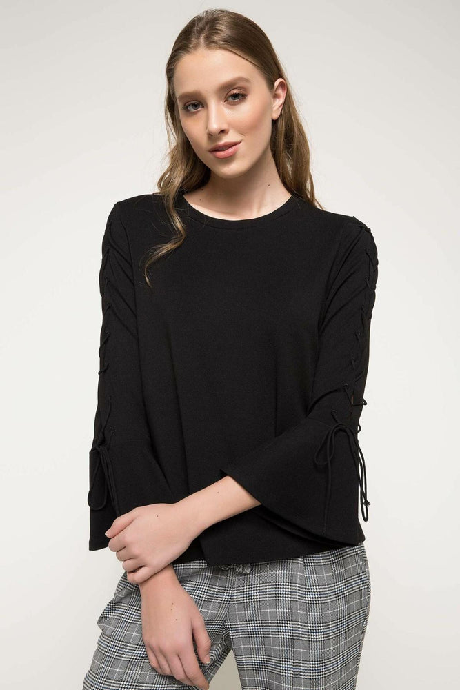 Black Long Sleeve Women Sweater