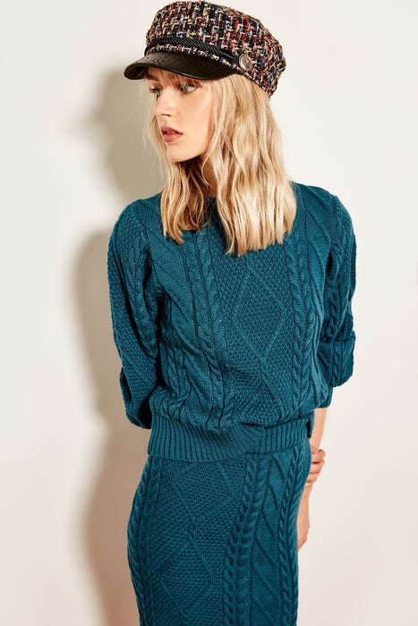 WOMEN-Oil Hair Braided Knitwear Sweater