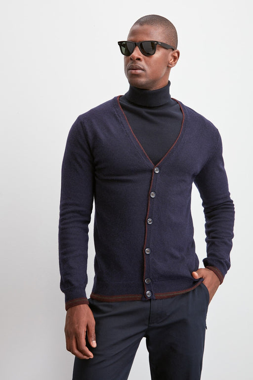 Male Button Sweater Cardigan