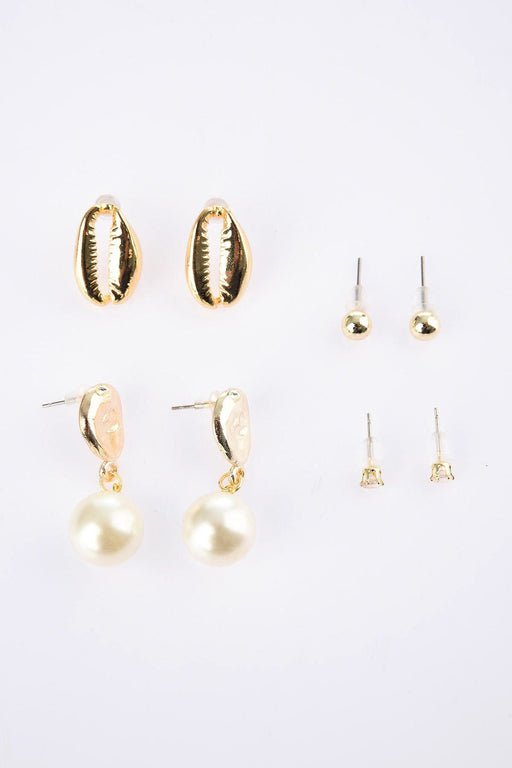 Pearl Sea Stone Multi Bijouterie Earrings
