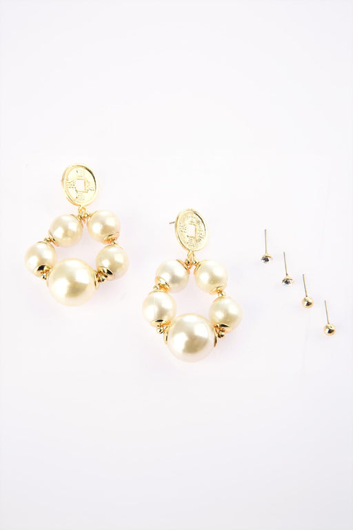 Pearls Multi Bijouterie Earrings