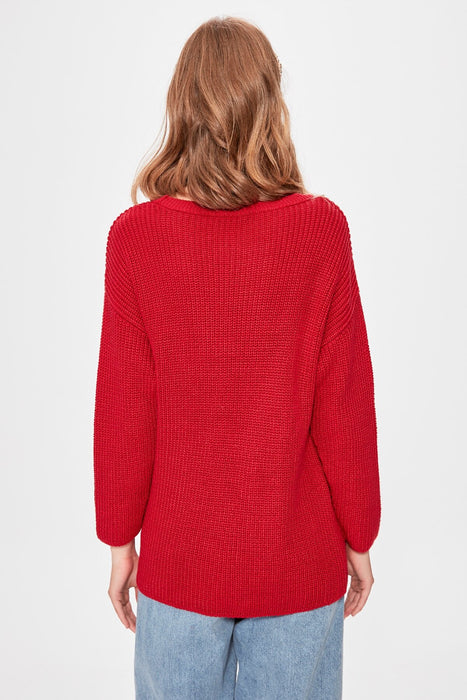 Red Basic Sweater Sweater