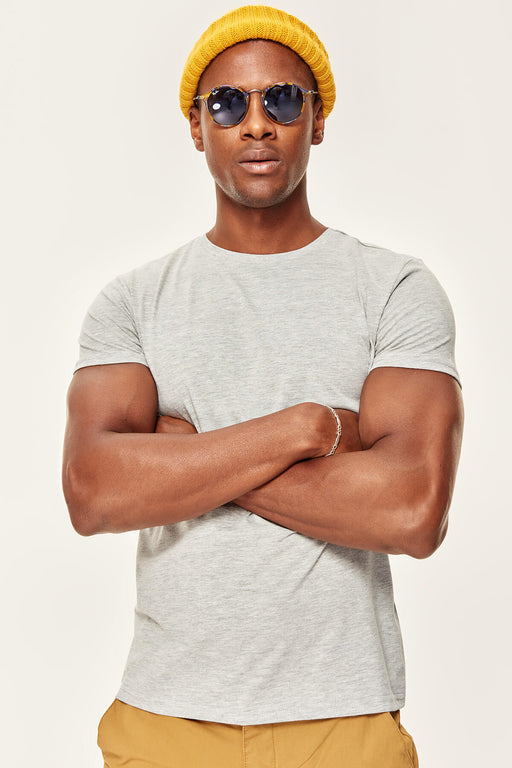 Presser Gray T-Shirt - Short Sleeve Neck Cotton