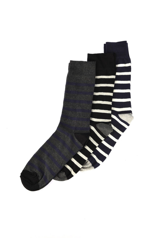 Striped 3'lü Socks