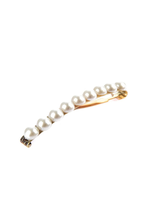 Ecru With Pearl Clip-On Hair Accessory Single Size