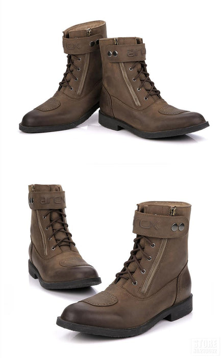 Leather Motorcycle Boots