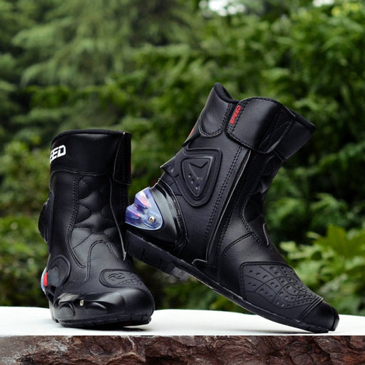 Microfiber leather Motorcycle Boots
