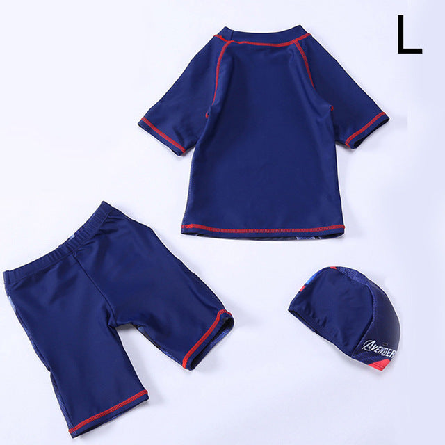Boys Swimsuit 2 Pieces With Cap