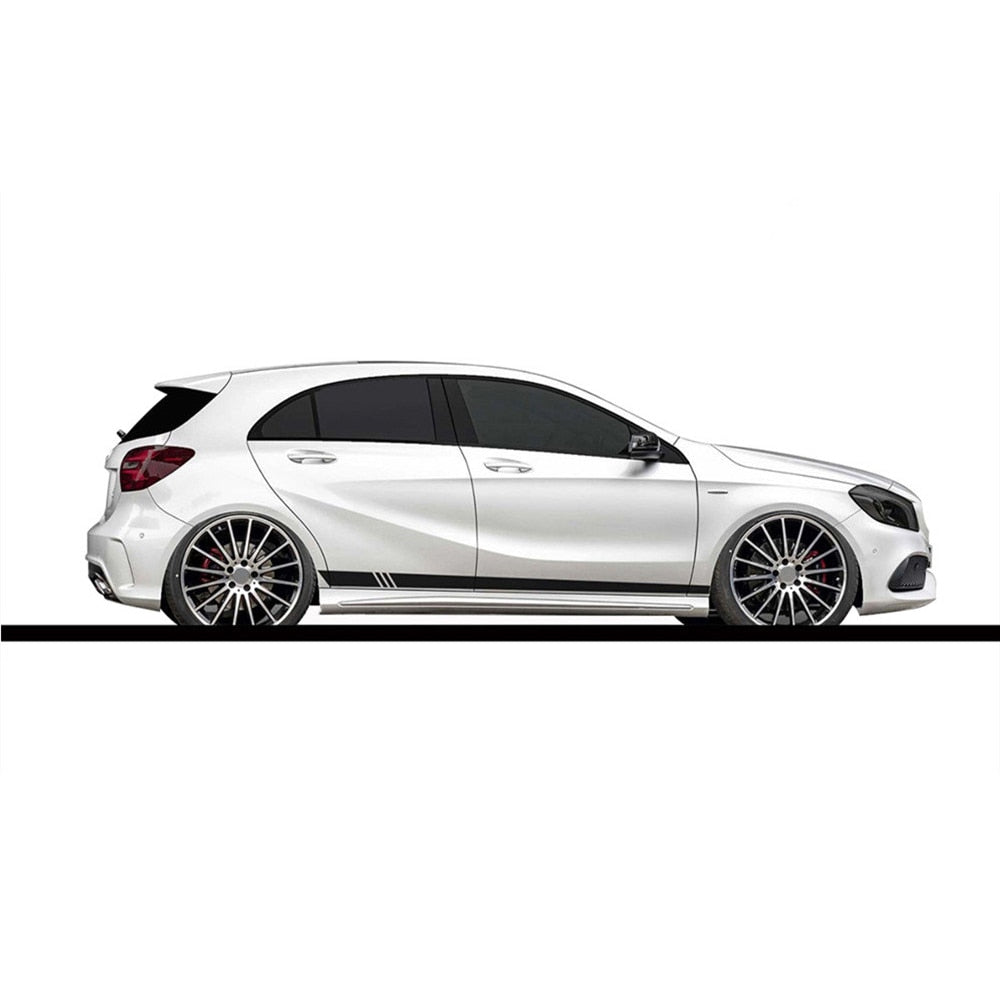 2pcs/lot 220x8cm  Side Stripes Car Wrap Vinyl