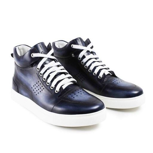 Genuine Leather Handmade High Top Sneakers