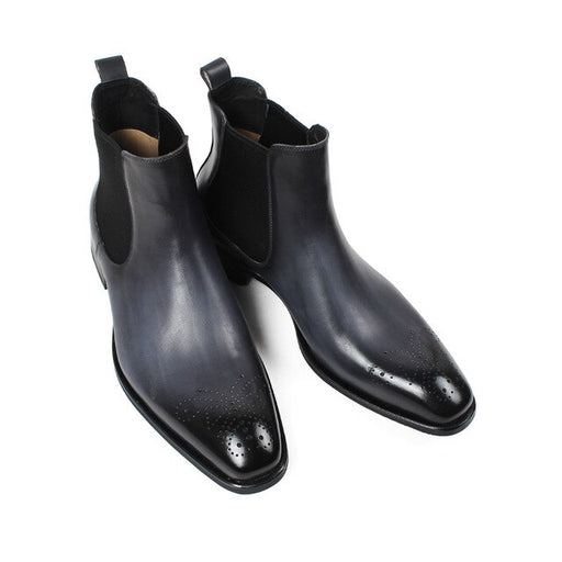 Mens Hollow Out Patchwork  Chelsea Boots