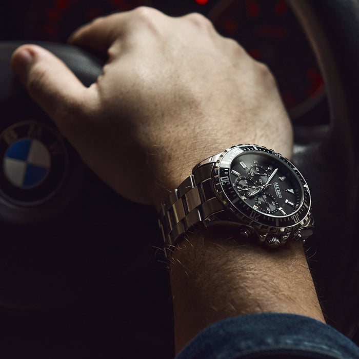 Luxury Stainless Steel Chronograph Business Watch
