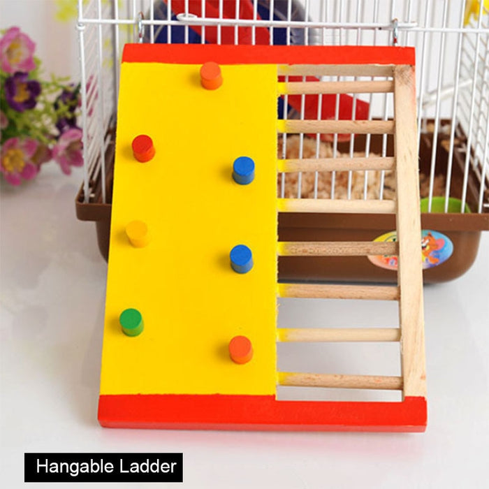 Natural Wooden Hamster Climbing Toy