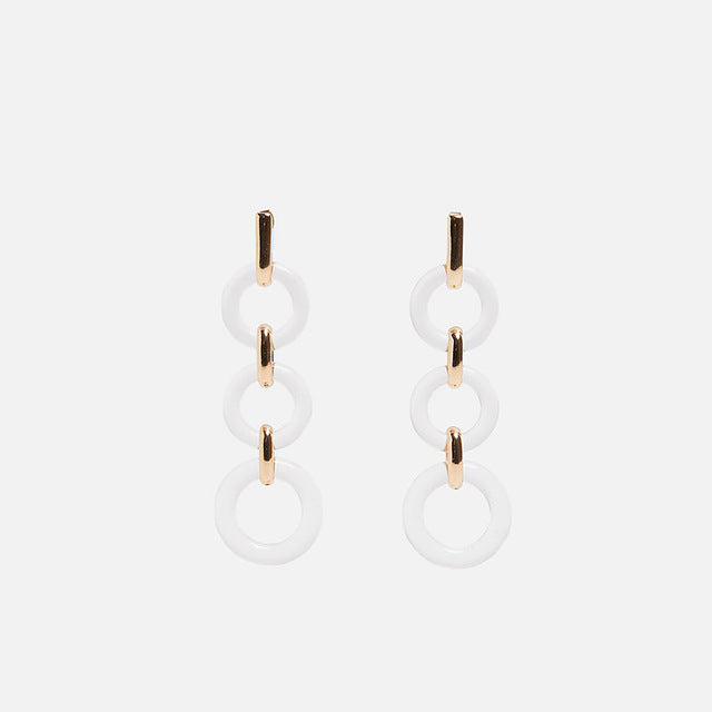 Transparent Acrylic Dangle Earrings for Women