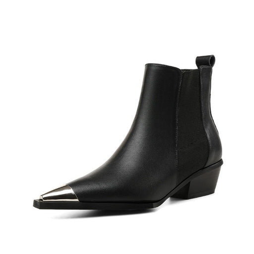 Women Metal Toe Ankle Boots