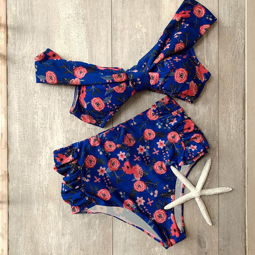 Floral Print High Waist Bikini Sets
