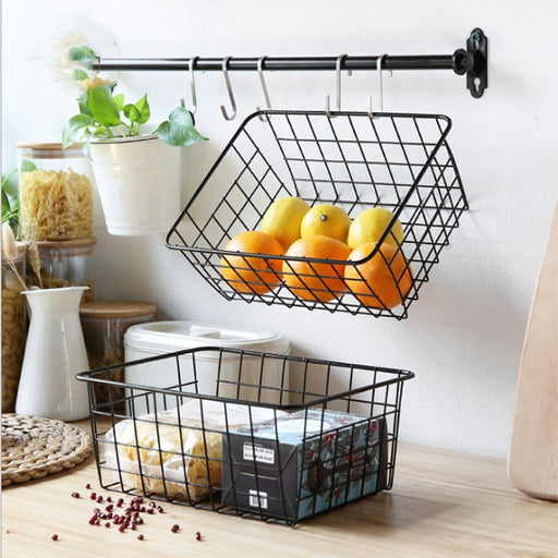 Wrought Iron Kitchen Storage Basket