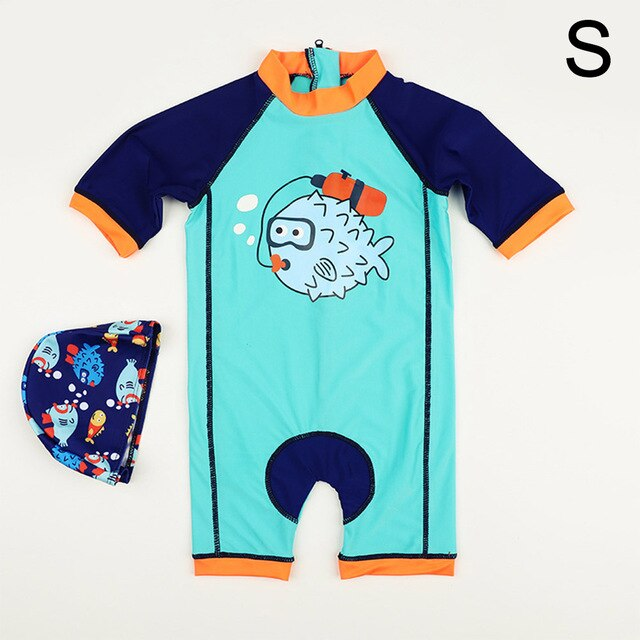 Long Sleeve Baby One Piece Swimsuit