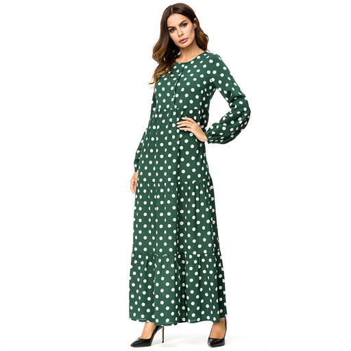 New Polka Dot Printed Loose Fit Dress