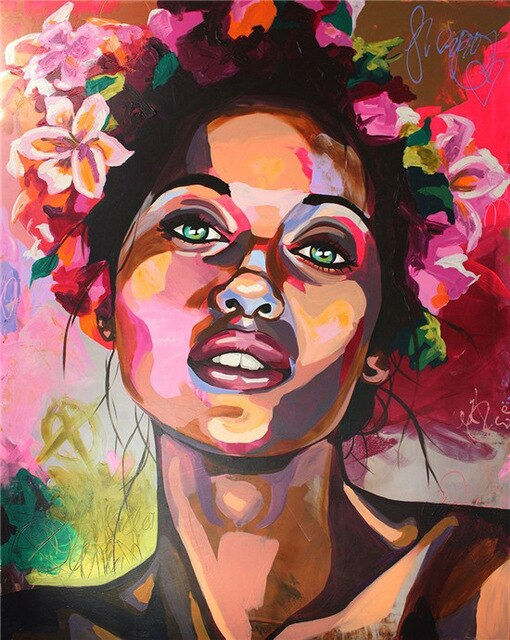 African Woman Canvas Painting