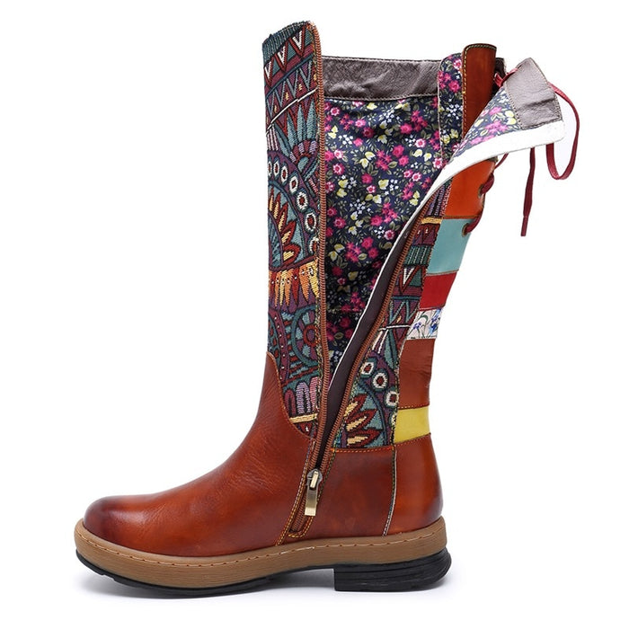 Genuine Leather Bohemian Women Boots