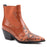 Pointed Toe, Microfiber, Retro, Real Leather Ankle Boots