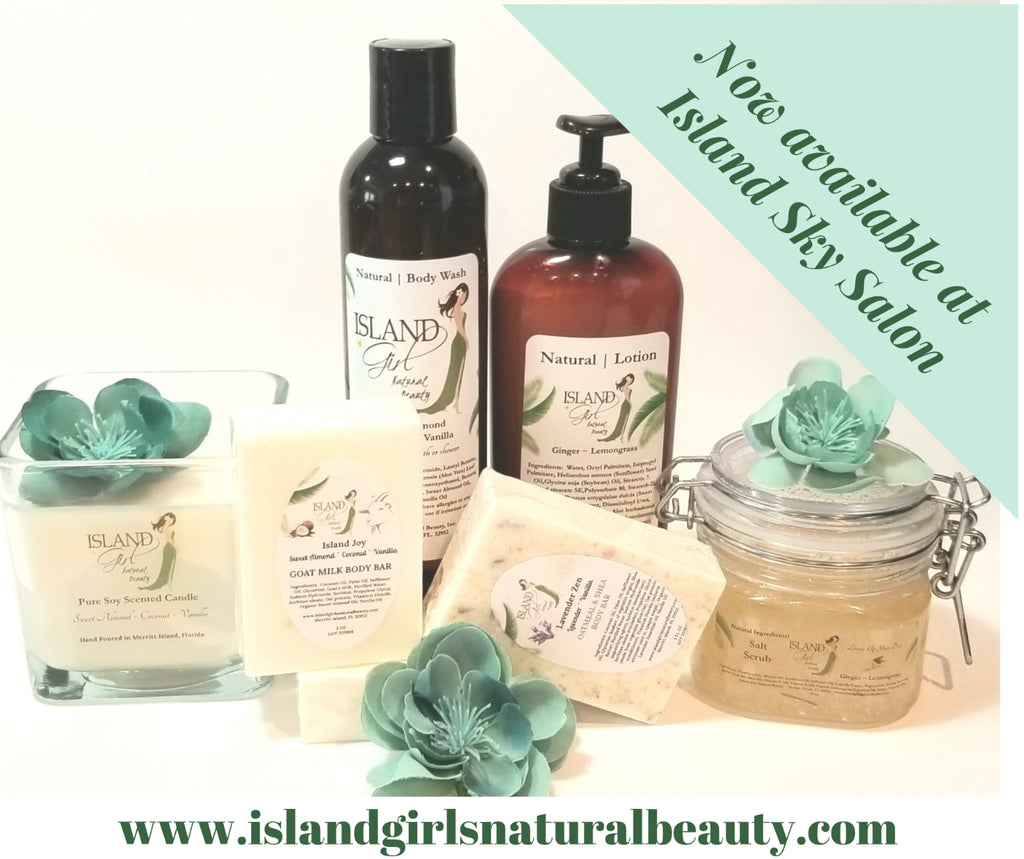 Island Sky Salon Now Offers Island Girl Natural Beauty