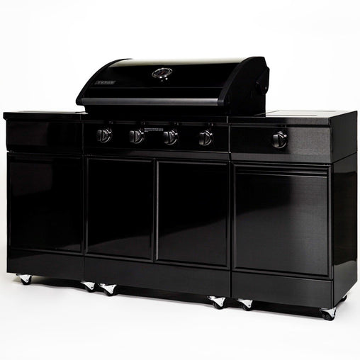 TYTUS Black Stainless Steel 5-Burner LP Grill Island