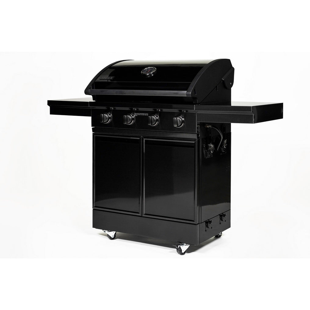 TYTUS Black Stainless-Steel Free Standing 4- Burner LP Gas Grill