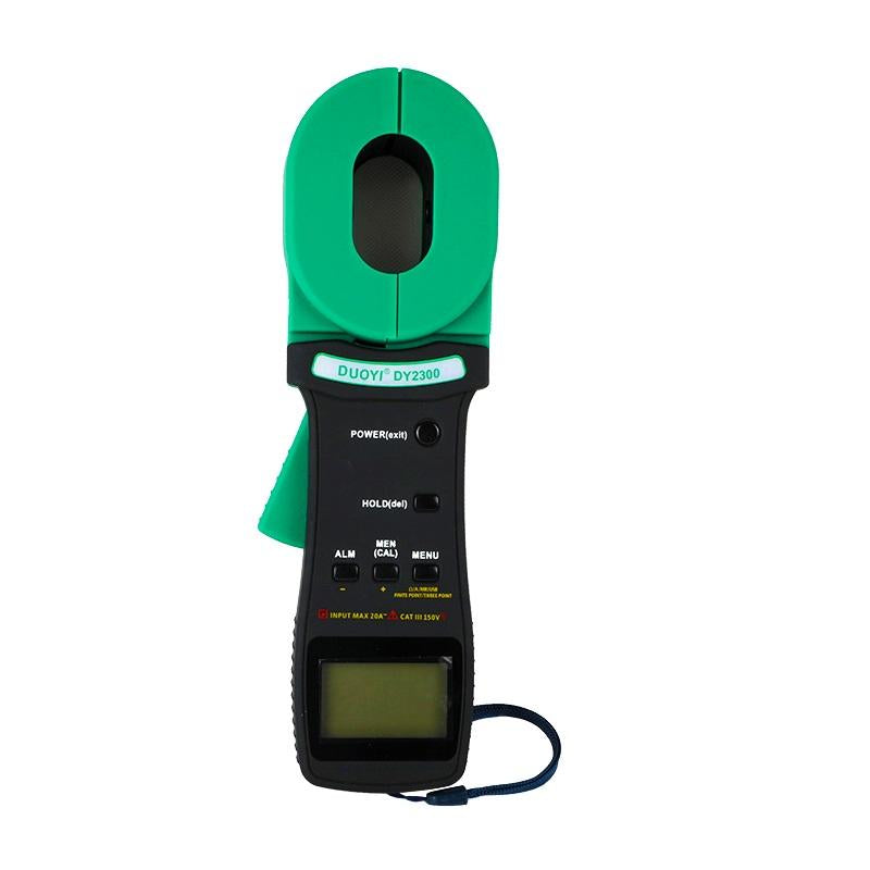 DUOYI DY2300 Digital Clamp on Ground Resistance Tester With 99 data points USB High Accuracy Earth Resistance Tester