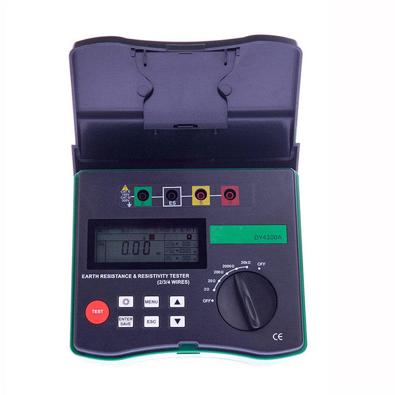 DUOYI DY4300A Digital Ground Earth Resistance Tester Meter 0.001 Ohm - 200KOhm 94Hz 105Hz 111Hz 128Hz