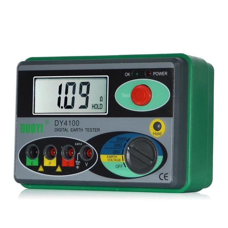 DUOYI DY4100 Resistance Tester Digital Earth Tester Ground Resistance Instrument Megohmmeter 0-2000 Ohm Higher Accuracy Meter