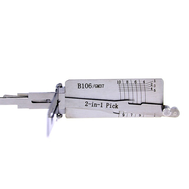 Lishi 2 in 1 Pick  B106 GM37 Auto Lock Pick and Decoder