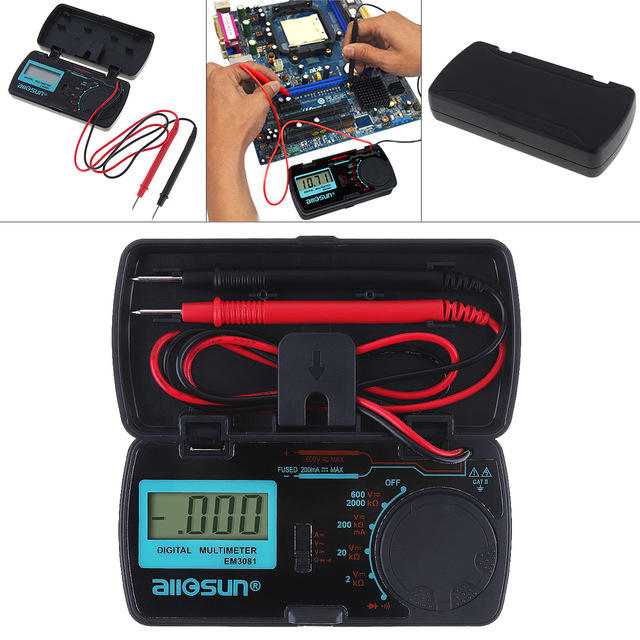 ALL SUN EM3081 Digital Multimeter Ammeter Voltmeter Ohm Portable Meter Voltage Meter