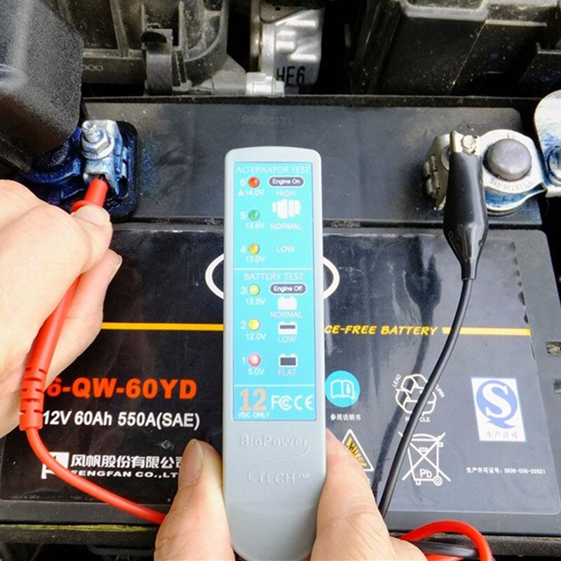 Car BioPower TECH Vehicle Charging System Analyzer Battery Tester Auto Circuit Tester Car Repair Tool 12V