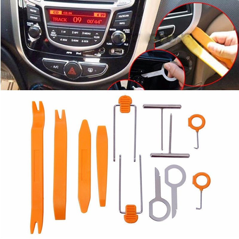 Car Radio Door Clip Panel Trim Dash Audio Removal Open Installer Pry Tool Hand Tool Set