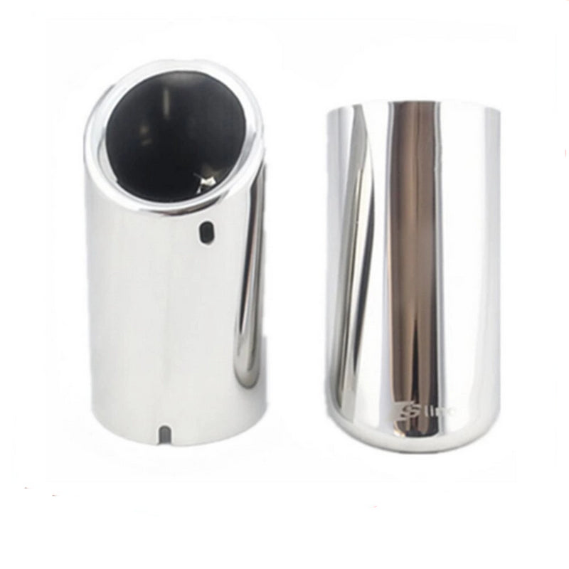 Car Rline Tail Throat Exhaust Pipe For Audi A1 A3 A4L A5 A6L Q3 Q5 Tail Pipe Car Exhaust Pipe Cover Muffler Tip