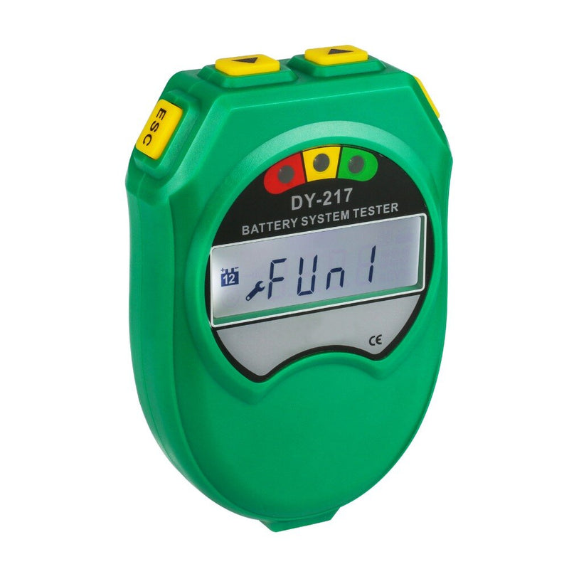 DUOYI DY217 Car Storage Battery Tester 9-18V Lead-acid Battery Healthy Analyzer CCA 100-1700 LCD Display