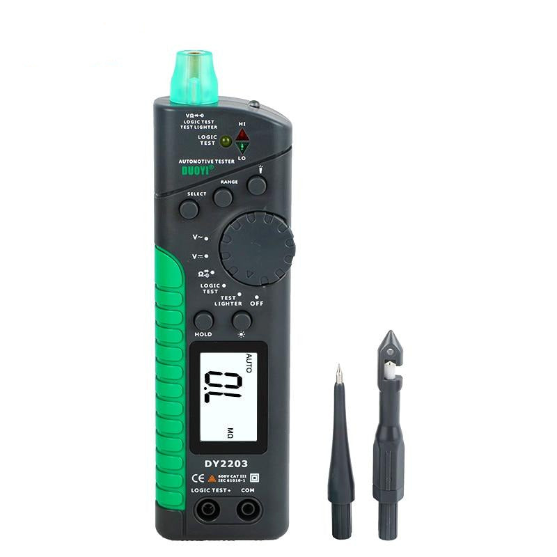 DUOYI DY2203 Automotive Multifunction Digital Tester Car Circuit Tester Circuit Logic Level Aging Continuity Test Breaker Finder