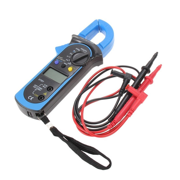 Digital Auto Range Clamp Multimeter Tester Meter DMM AC DC Volt Ohm Digital Clamp Multimeters ST201