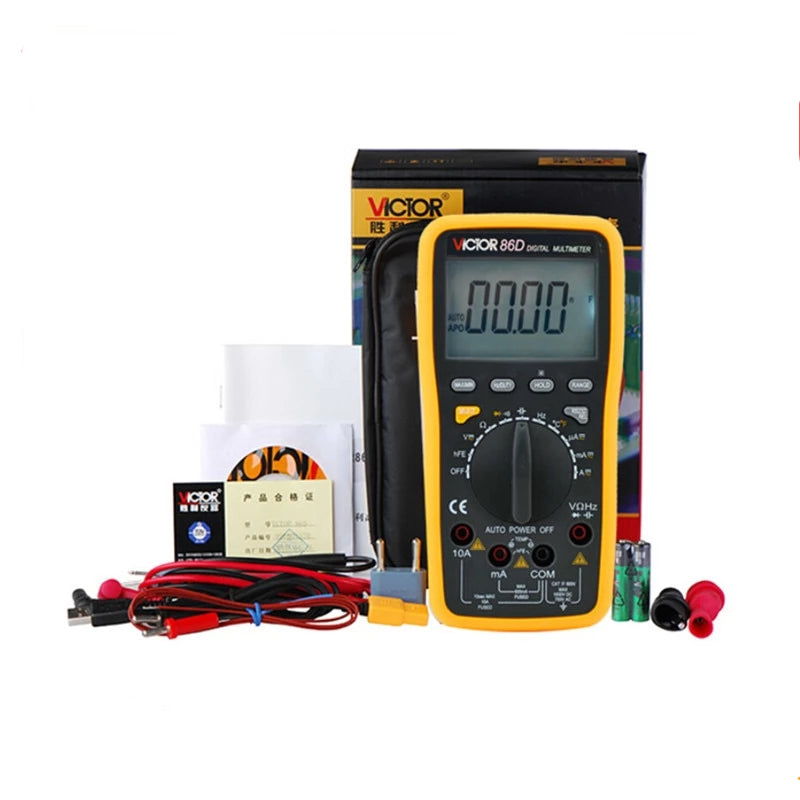 Digital Multimeter Meter VC86D Victor Multimeter VC30274,meter with RS232 USB and English Manual