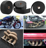 Fiberglass Exhaust Wrap Header Turbo Pipe High Heat Insulating Tape Black Car 10mx5cmx2mm