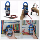 HP-870N Auto Range DC AC Digital Clamp Meter Multimeter Temperature Meter True RMS Frequency Backlight