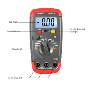 Professional Capacitance Meter UA6013L Auto Range Digital LCD Capacitor Test  Multimeter Measurement Tester Meter