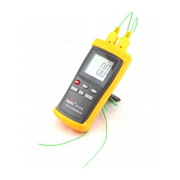 Brand New Digital LCD Industrial Thermometer Two Channel 1370C 2498F K-Type Digital Thermometer Thermocouple Sensor  DT1312