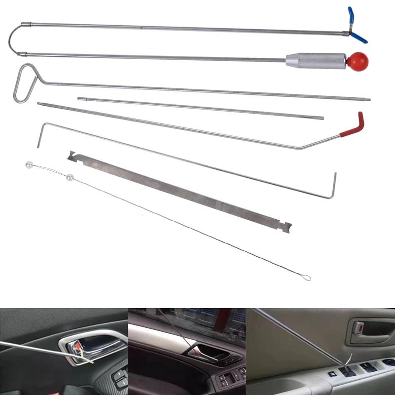 Automotive Essential Car Tool Kit Push Rods Spring Steel Rods Vehicle Emergency Kit with Pump Wedge