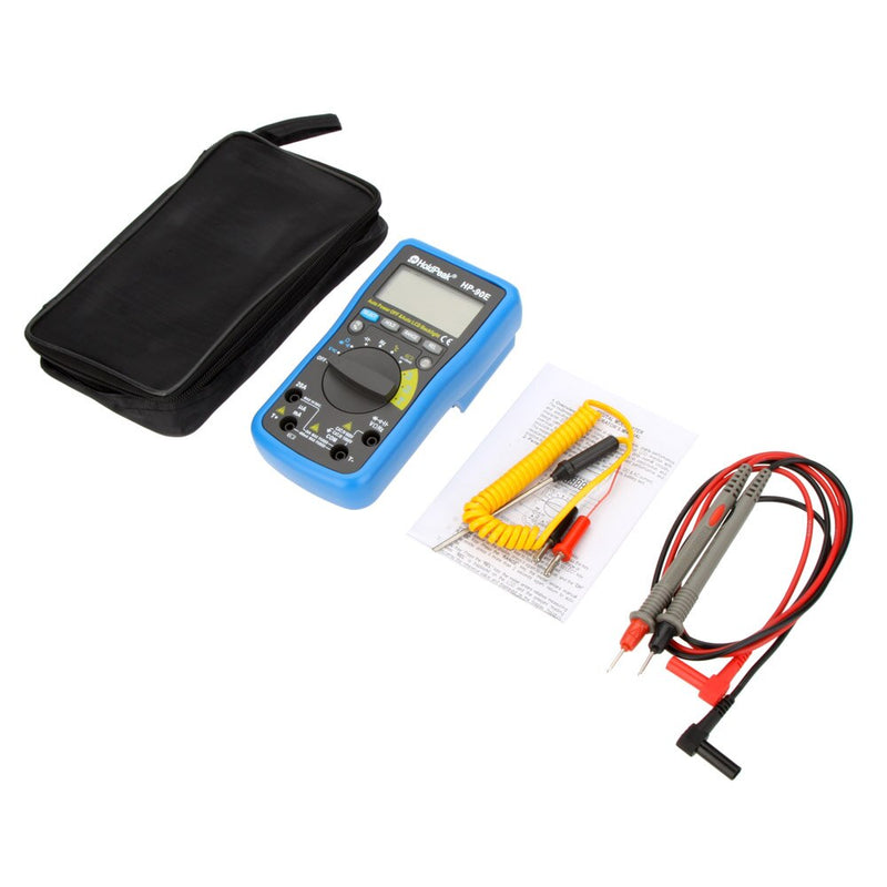 HoldPeak HP-90E Auto Range Digital Multimeter DMM Temperature Meter Battery Multitester Multimetr Medidor Dijital Multimetre
