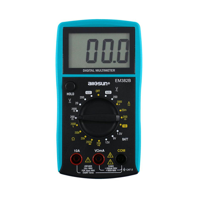 EM382B LCD Display Professional Electric Handheld Tester Meter Digital Multimeter DC AC Voltmeter Continuity Battery Diode