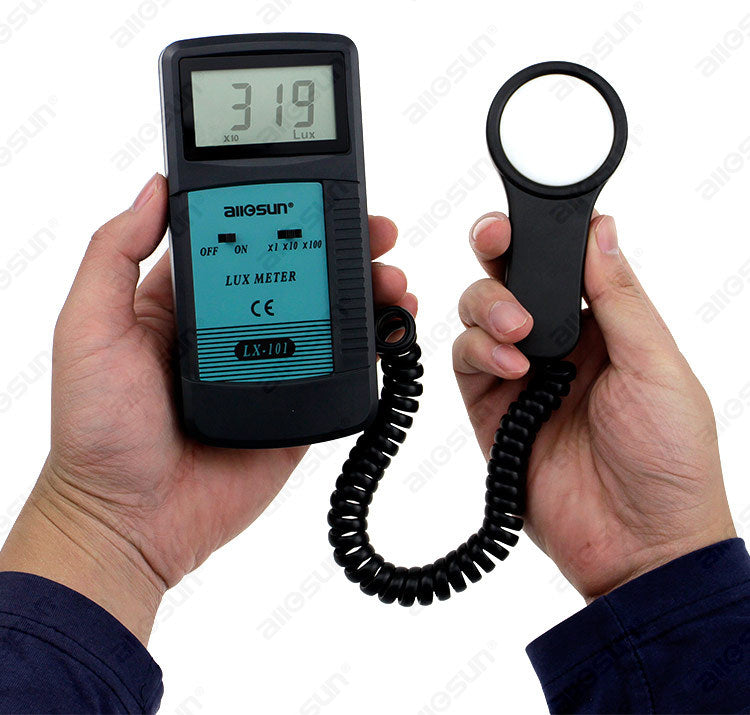 All Sun LX101 Luxmeter Luminometer Tester Photometer Digital LCD Light Meter